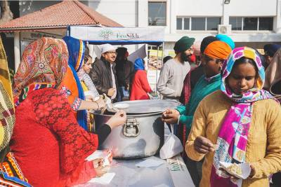 Millets Langar at Guru Gobind Singh Ji's gurpurab celebrations