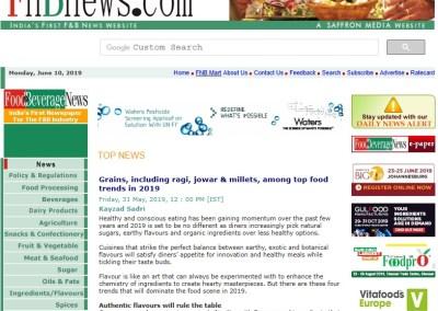 Grains, including ragi, jowar & millets, among top food trends in 2019