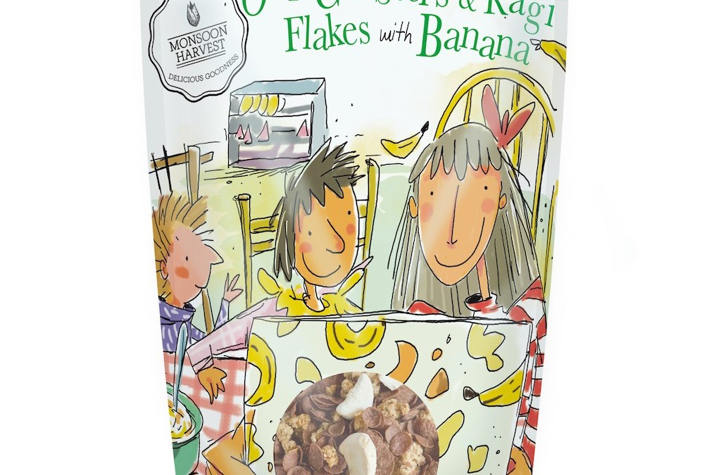 Ragi Flakes with Banana by Moonsoon Harvest