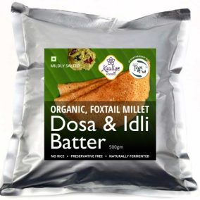 Foxtail Millet Dosa and Idli Batter by Kaulige