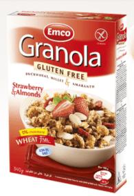Gluten Free Granola Strawberry and Almonds by EMCO
