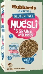 Amazing Gluten Free Museli 5 grains by Hubbards Foods