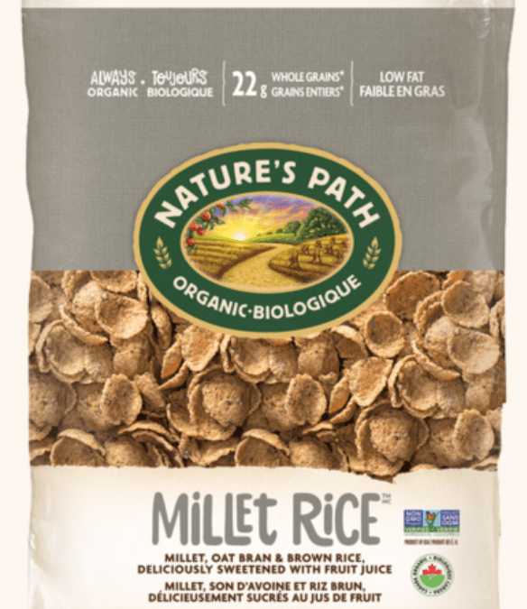 Millet rice flakes by Natures Path