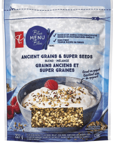 Ancient Grains and Super Seed by President's Choice Blue Menu Bleu