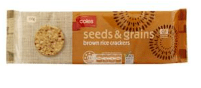 Seeds and Grains Brown Rice Crackers by Coles