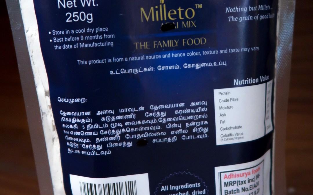Sorghum Chapati Mix by Milleto, Adhisurya Foods