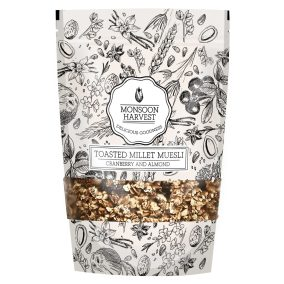 Toasted Millet Museli Cranberry by Monsoon Harvest