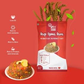 Ragi Upma Rava by Eat Millets, Coastal Foods