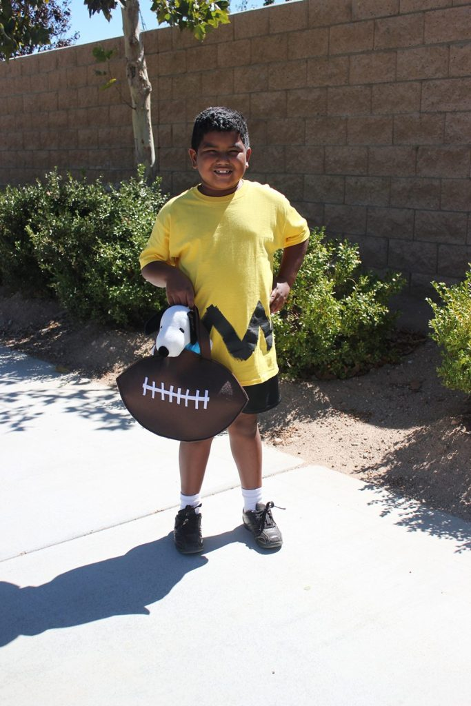 Charlie Brown Costume with FootBall Treat Bag Snoopy JPriest