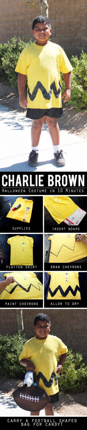 Easy DIY Charlie Brown Costume for Under Ten Dollars 10 Minutes JPriest
