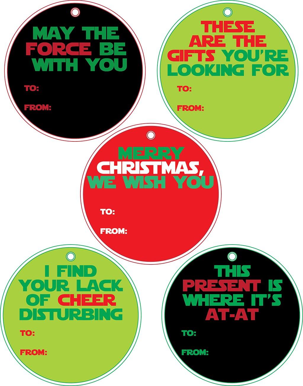 Star Wars Printable Gift Tags - Printing the Holidays Blog ... - photo#39