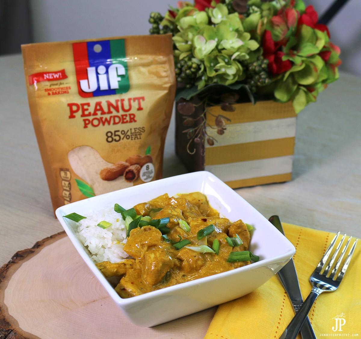 Thai-Peanut-Chicken-Curry-with-Jif-Peanut-Powder-JustJP