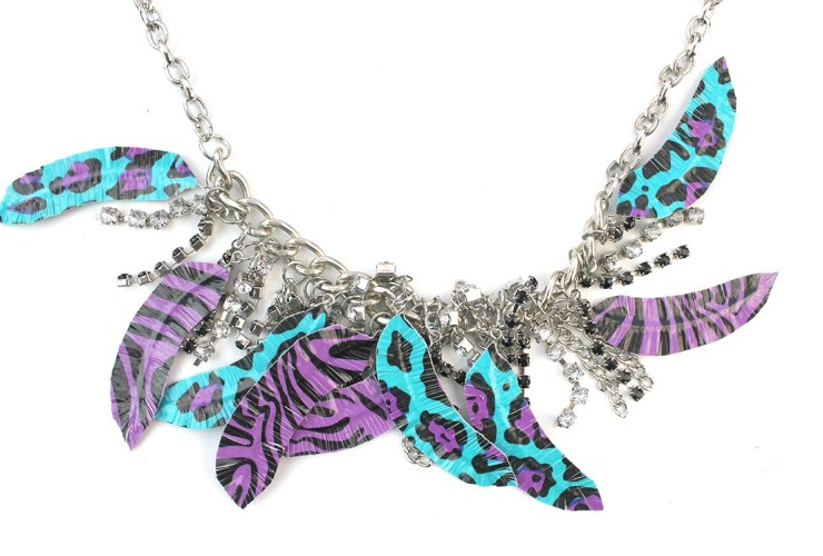 Duct Tape Feather Necklace – Tribute to Prince