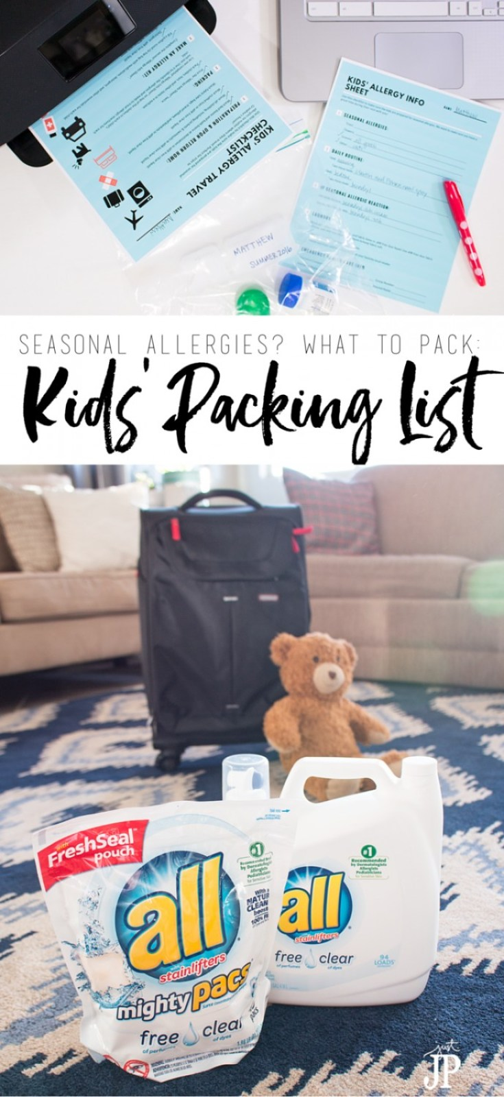 Kids going to Grandma's house this summer? Packing for kids with seasonal allergies can be a challenge. Get this FREE printable checklist so you and Grandma can be prepared for the kids to visit with little worry about seasonal allergy attacks. Travel packing list for kids with seasonal allergies #FreeToBe ⋆ just jp http://buff.ly/28HtmGD [ad]
