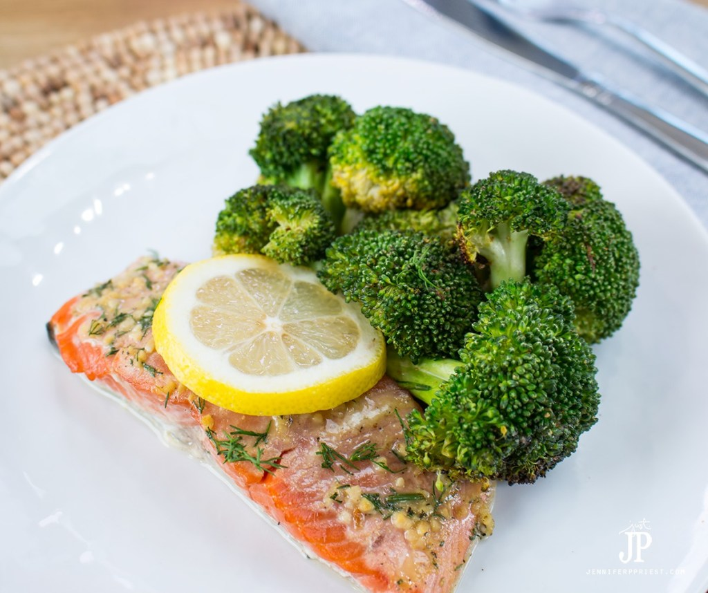 Fire Roasted Broccoli Recipe with Cedar Plank Salmon by jenniferppriest - delicious, green broccoli that has a rustic fire-roasted taste. How to make broccoli that tastes good!