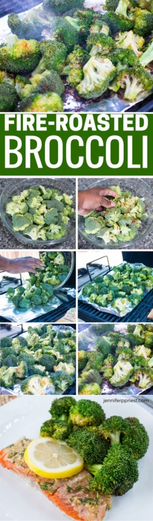 Fire Roasted Broccoli Recipe by jenniferppriest - delicious, green broccoli that has a rustic fire-roasted taste. How to make broccoli that tastes good!