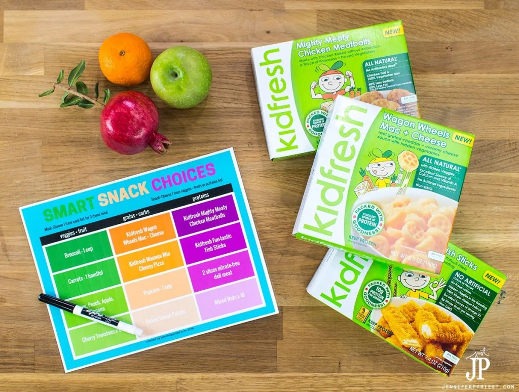 #KeepingMomsCool [AD] Help the kids eat healthy with this FREE printable snack and meal planning chart, featuring new Kidfresh meals at Target. Printable by jenniferppriest at http://jenniferppriest.com/mom-hack-printable-snack-chart-for-back-to-school