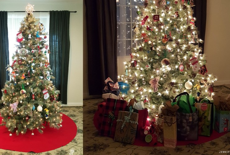 GIANT DIY Christmas Tree Skirt for Under $10