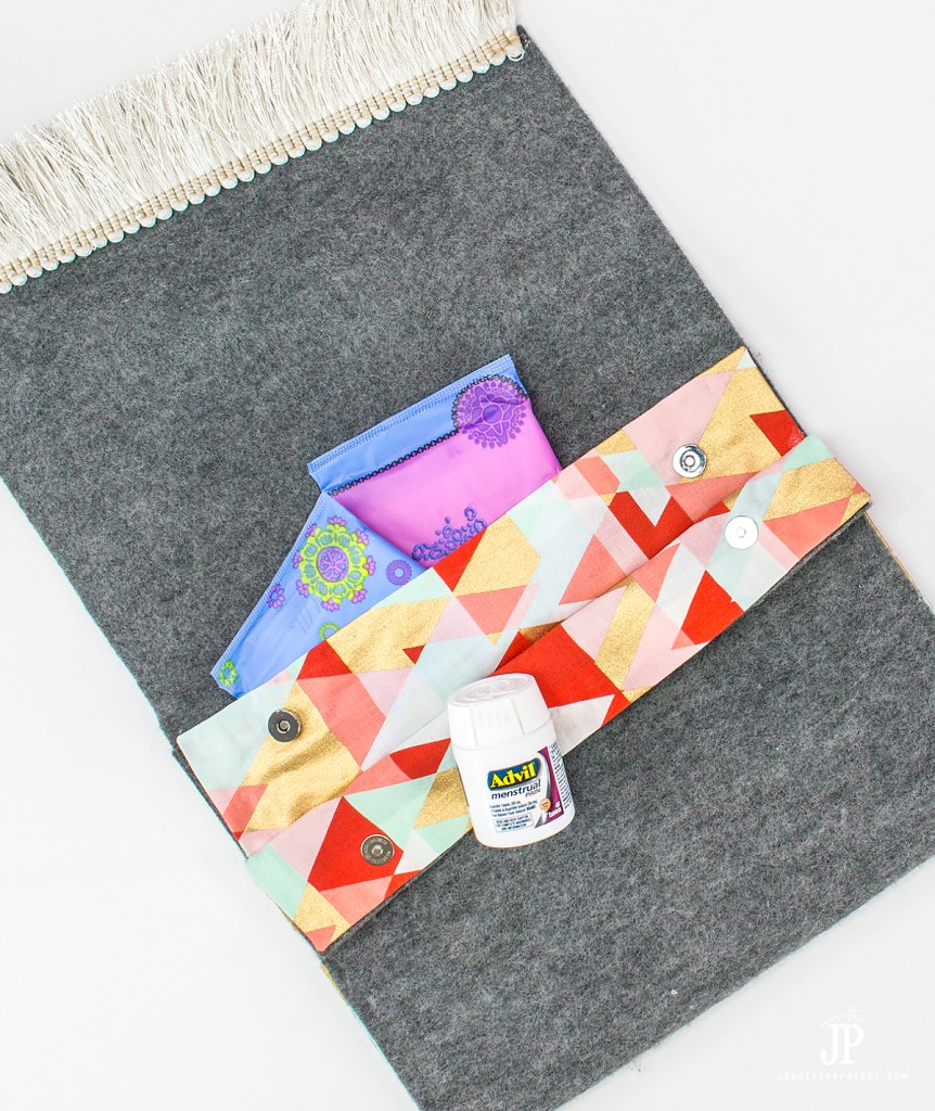 #Sponsored #WhatMonthlyPain One of our most popular DIYs is a Period Kit notebook cover with a secret compartment. We've gotten SO MANY requests to make a NO-SEW version of the period kit. So here it is! A No-Sew Clutch Purse with a SECRET COMPARTMENT for a period kit, including feminine products and Advil® Menstrual Pain* (*use as directed). Watch the video to see the HOW-TO and get the deets on avoiding pain during your monthly