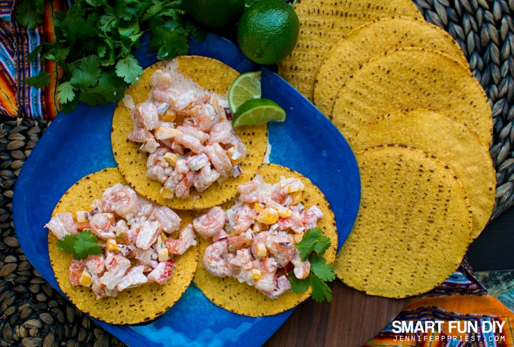 Easy Shrimp Ceviche Tostadas Recipe for Lent