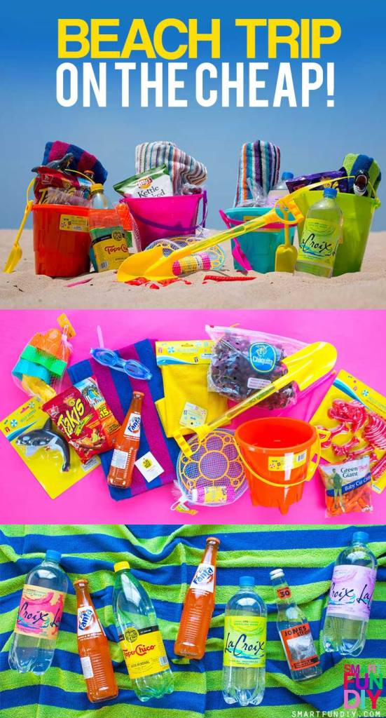 [AD] Beach on a budget with 99 Cents Only Stores! How to pack it all in ONE BUCKET per person for beach day. PLUS 5 more Family Beach Day tips like how to keep the sand off your feet: https://www.smartfundiy.com/summer-beach-day-tips/ #DoingThe99 #99YourSummer