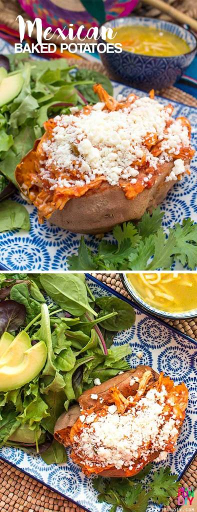 EASY Mexican baked sweet potatoes for back to school or a quick weeknight dinner the whole family will love ... only 5 ingredients!
