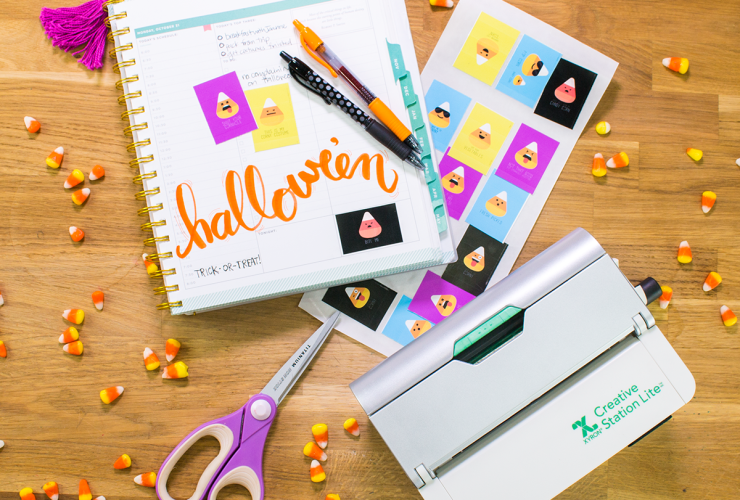 DIY Candy Corn Planner Stickers for Halloween