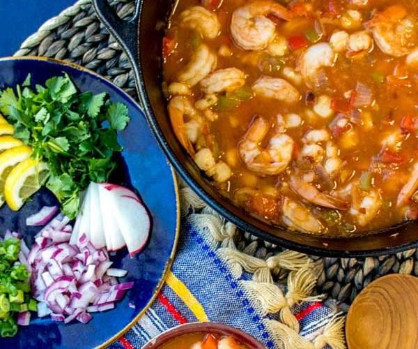 Easy Shrimp Pozole Recipe