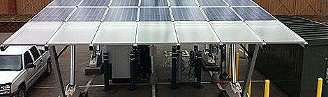 Estación Toshiba experimental para recarga de autos eléctricos en U.S.A
