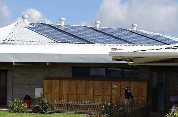 Colegio en Guatemala inaugura el proyecto de energía solar paneles solares fotovoltaicos 1