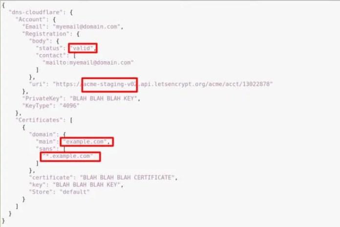 acme.json File for Staged Traefik 2.0 LetsEncrypt Domain Validation