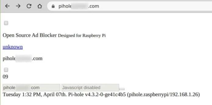 PiHole without addPrefix Traefik Middleware
