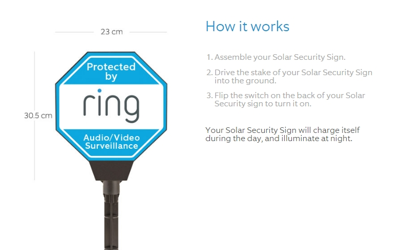 Ring Solar Security Sign Review