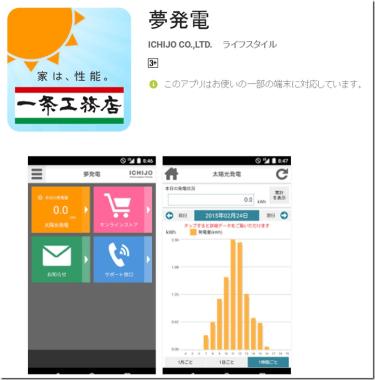 え!一条工務店「夢発電」アプリ(iPhone版&Android版)が登場!?