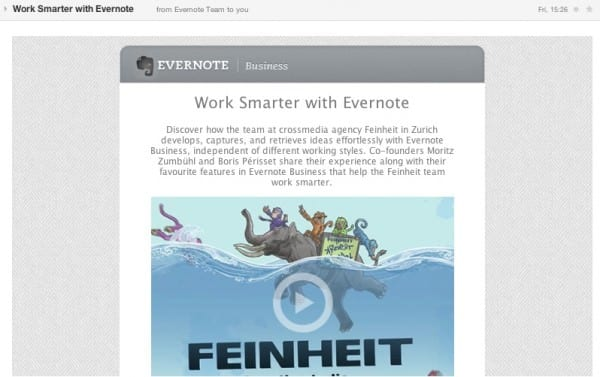 Evernote email case study