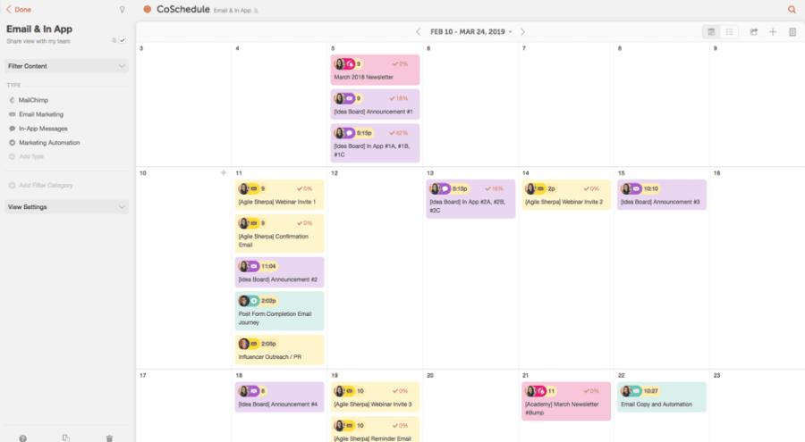 CoSchedule content marketing plan