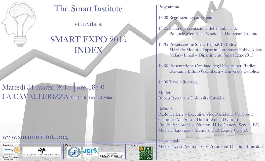 Convegno di presentazione progetto Smart Expo2015 Index (31-marzo-2015)