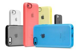 iPhone mobildeksel av ulike farger.
