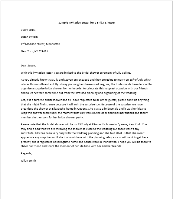 sample invitation letter for mayor to