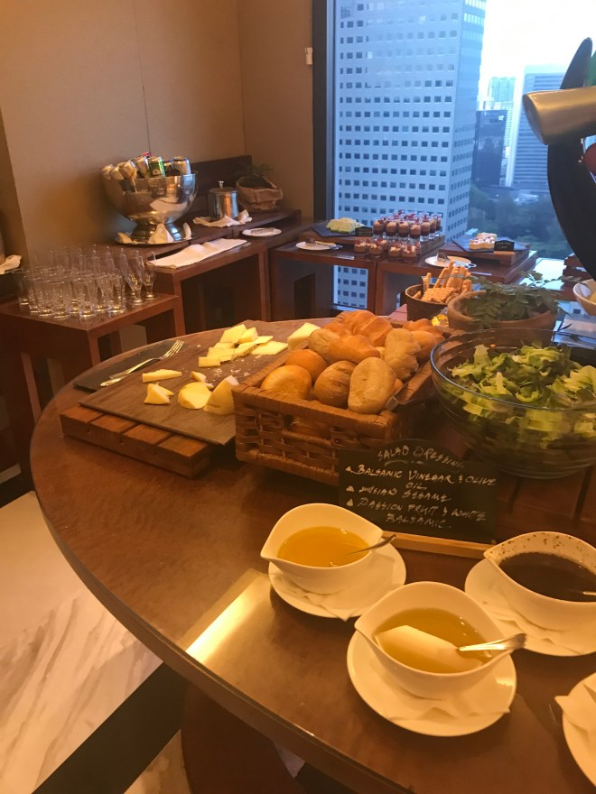 Conrad Singapore, Executive Lounge Breads, Cheese, Desserts