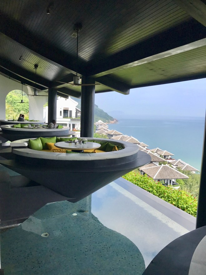 Intercontinental Danang, cone booth, outdoor seating