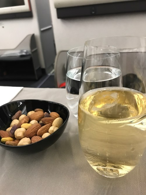 Turkish Airlines, Nuts and Champagne