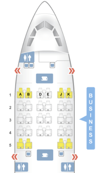 Turkish Airlines A330-200 Seat Map