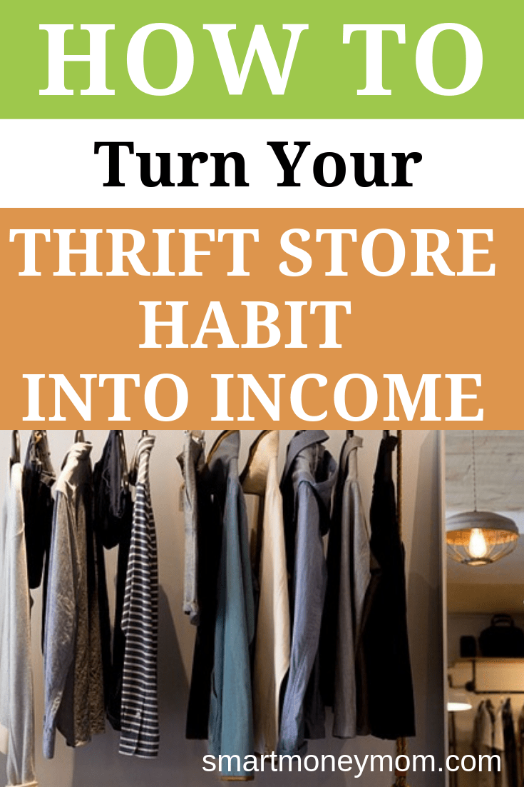 How to Turn Your Thrift Store Habit into Income. Use these steps to turn your thrift store habit into an income for yourself and your family. #howmakemoney #makeextramoney #makequickcash