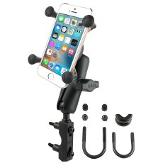 RAM Combination Brake/Clutch Reservoir U-Bolt Mount with Universal X-Grip® Cell/iPhone Cradle