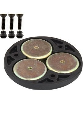 """RAM 2.5"""" Round Base with the AMPs Hole Pattern, 1"""" Ball & Magnetic Base"""