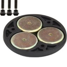 "RAM 2.5"" Round Base with the AMPs Hole Pattern, 1"" Ball & Magnetic Base"