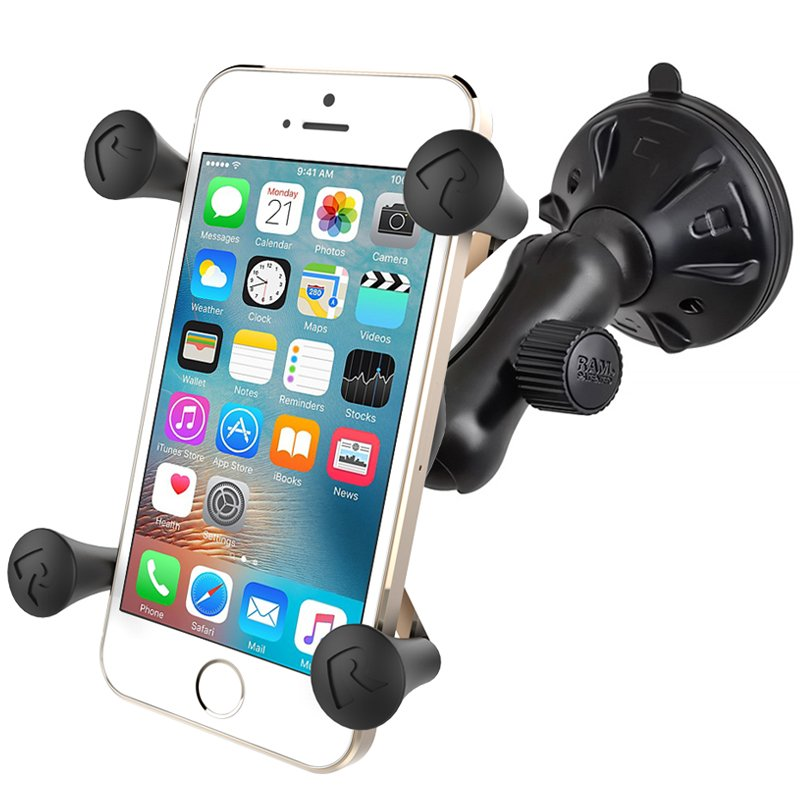 RAM Composite Twist-Lock™ Suction Cup Mount with Universal X-Grip® Cell Phone Cradle