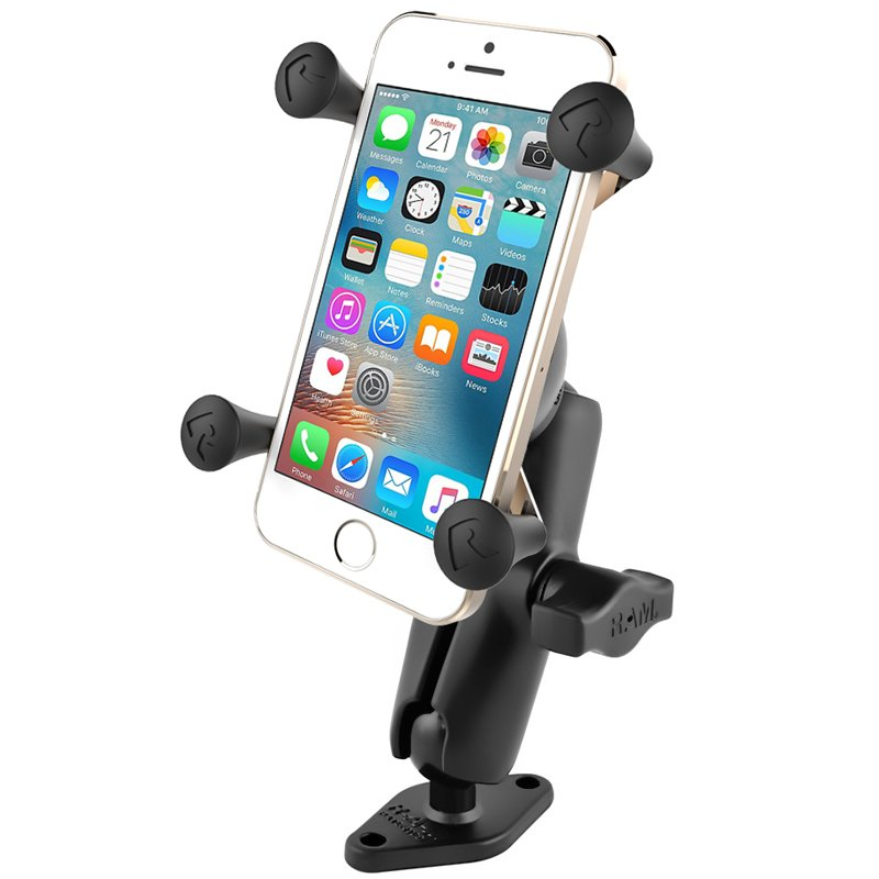 """RAM 1"""" Ball Mount with Diamond Base & Universal X-Grip® Cell/iPhone Cradle"""