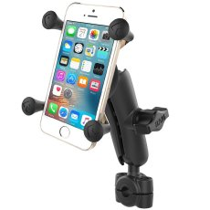 "RAM® Torque™ 3/8"" - 5/8"" Diameter Mini Rail Base with 1"" Ball, Medium Arm and X-Grip® for Phones"